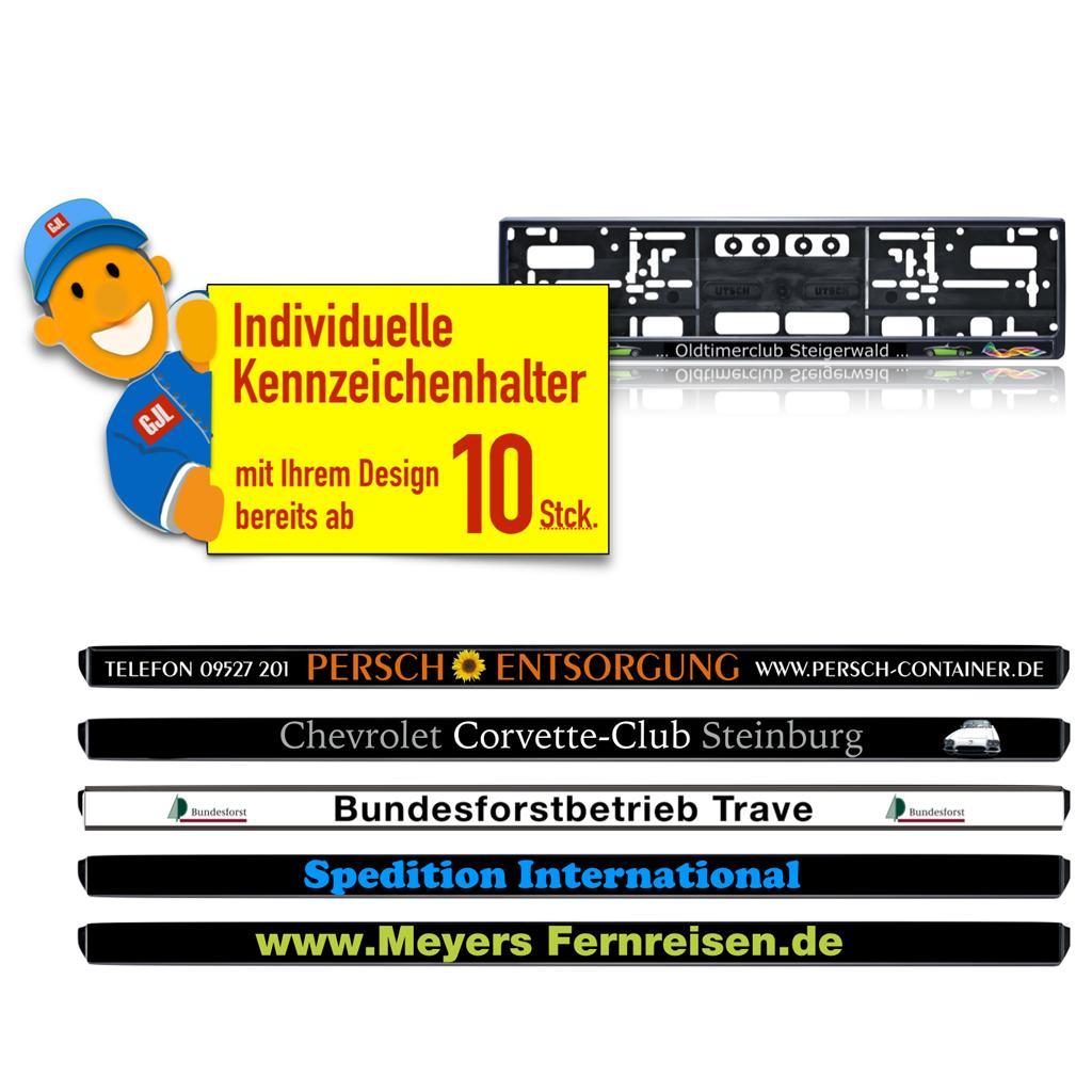 """Kennzeichenhalter """"MEIN-Branding"""" - Individual"""