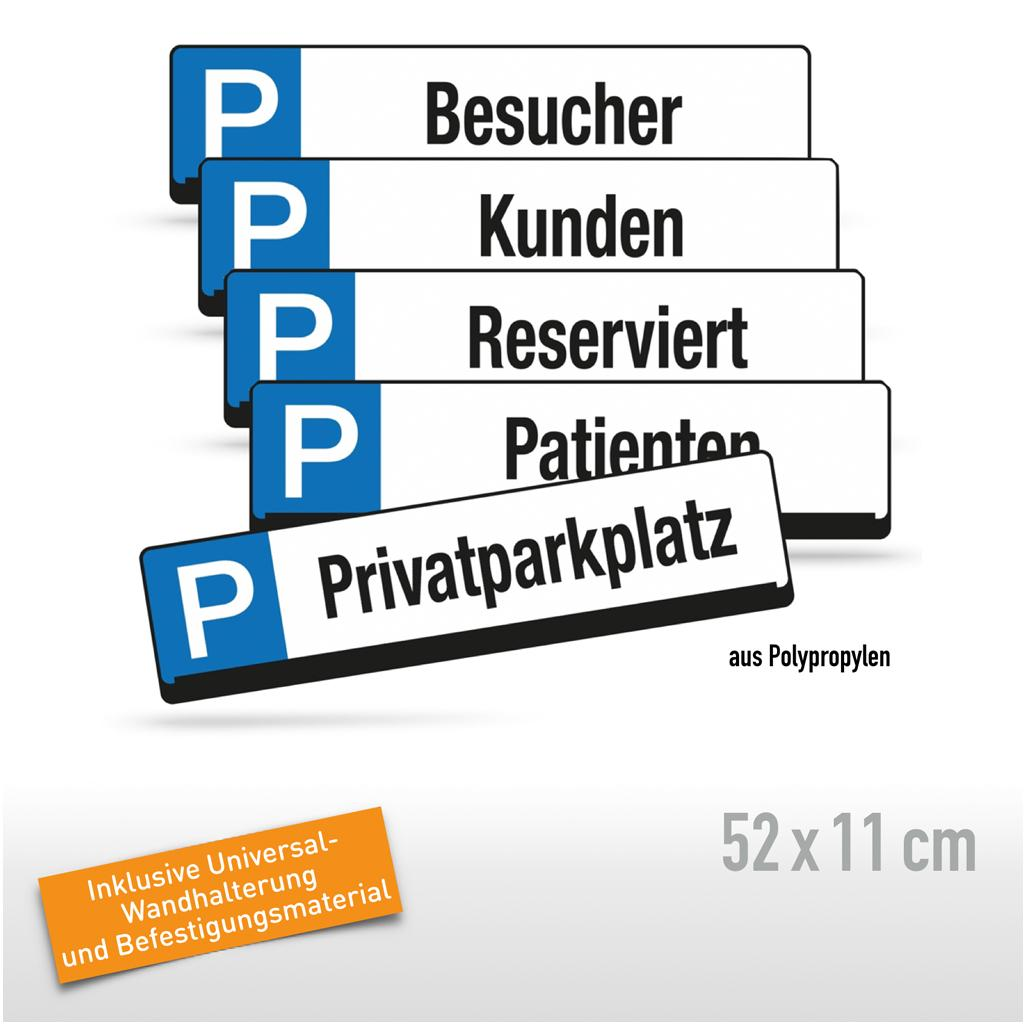 Parkplatz-Reservierungsschilder