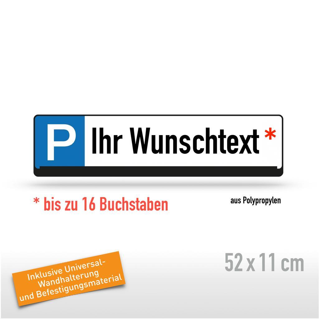 Parkplatz-Reservierungsschilder mit Wunschtext