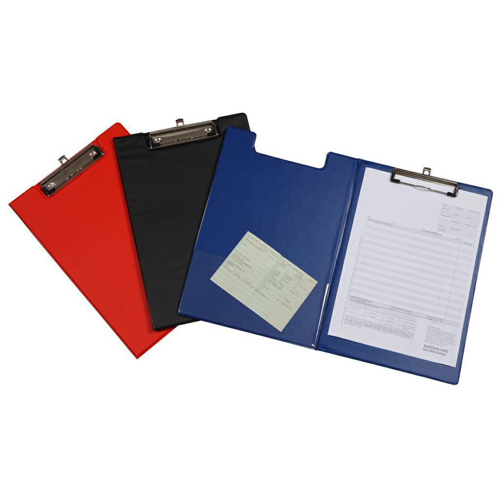 Klemmbrett-Schreibmappe mit Hakenöse und Innentasche