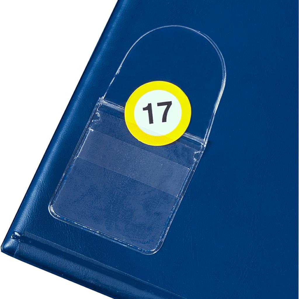 Selbstklebende Klarsichttasche für Leitzahlenmarken