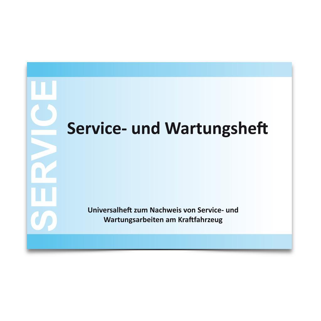 Service- und Wartungsheft - DIN A5 - quer