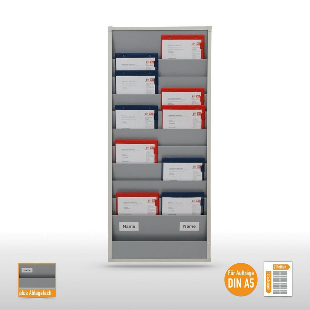 Plantafel für bis zu 20 DIN A5 - und 2/3 DIN A4 Aufträge