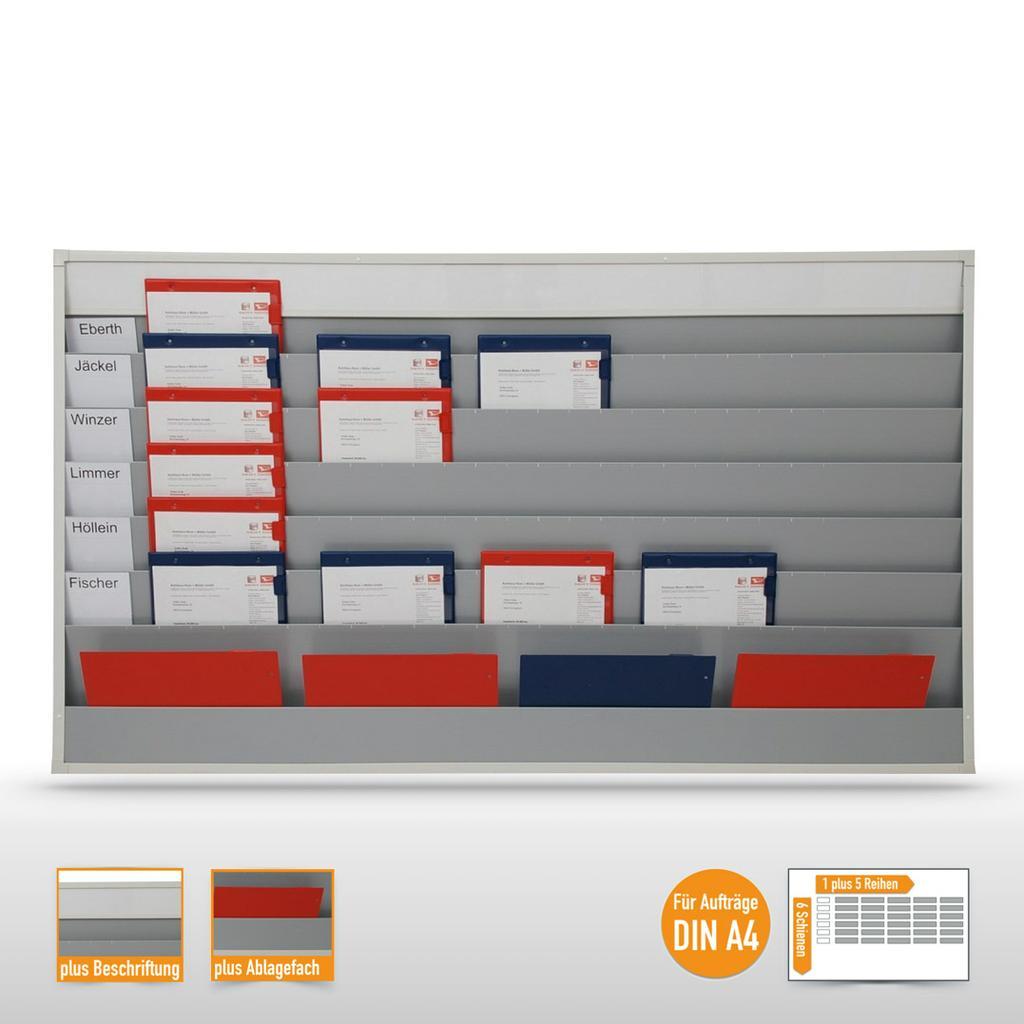 Planungstafel groß (30 x DIN A4) mit individueller Beschriftungsmöglichkeit