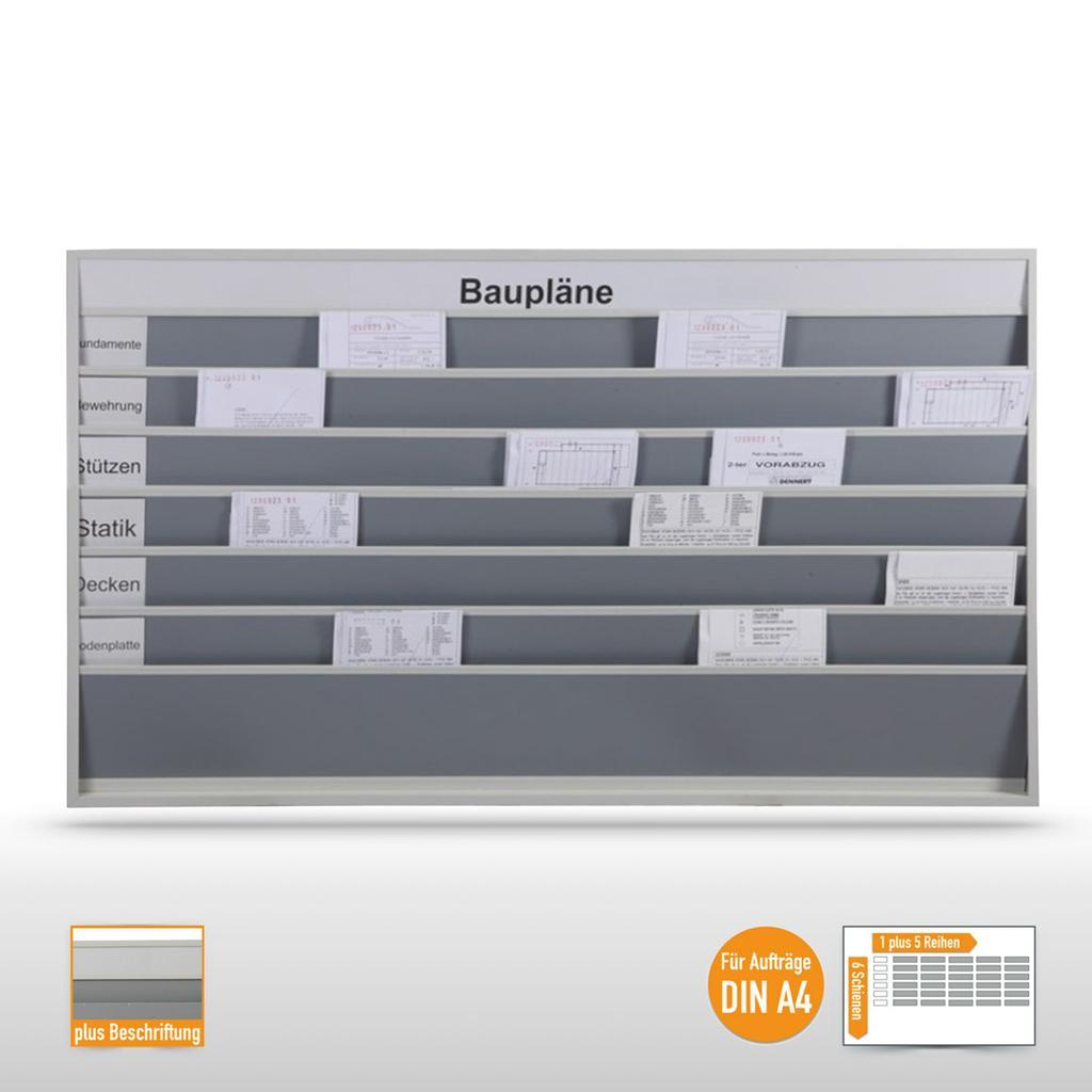 """Planungstafel groß (30 x DIN A4) mit Beschriftung """"Baupläne"""""""