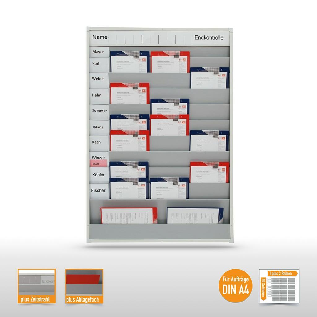Planungstafel - mit Zeitstrahl - bis zu 30 DIN A4 Aufträge