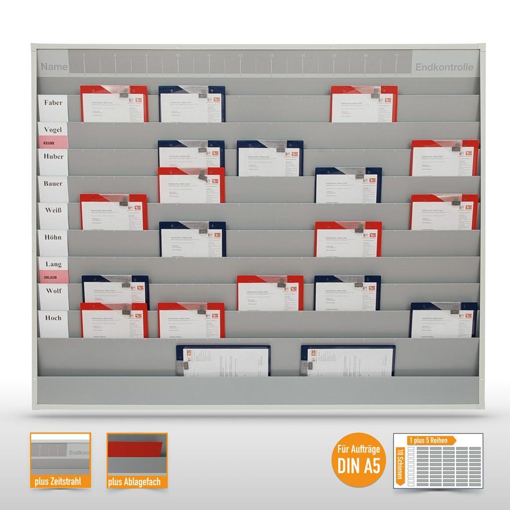 Werkstattplaner groß mit Zeitstrahl (bis zu 50 x  DIN A5)