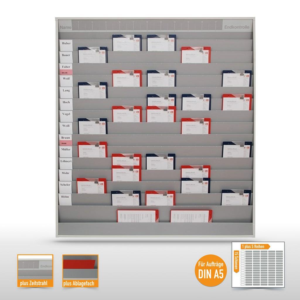 Werkstattplaner groß mit Zeitstrahl (bis zu 75 x  DIN A5)