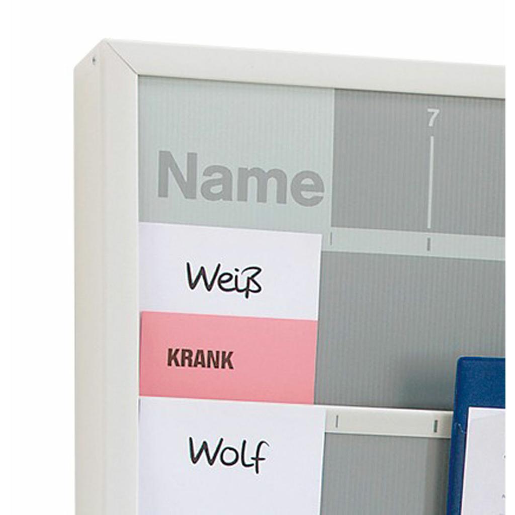 Index-Karten Urlaub/Krank (rosa), für Werkstattplaner
