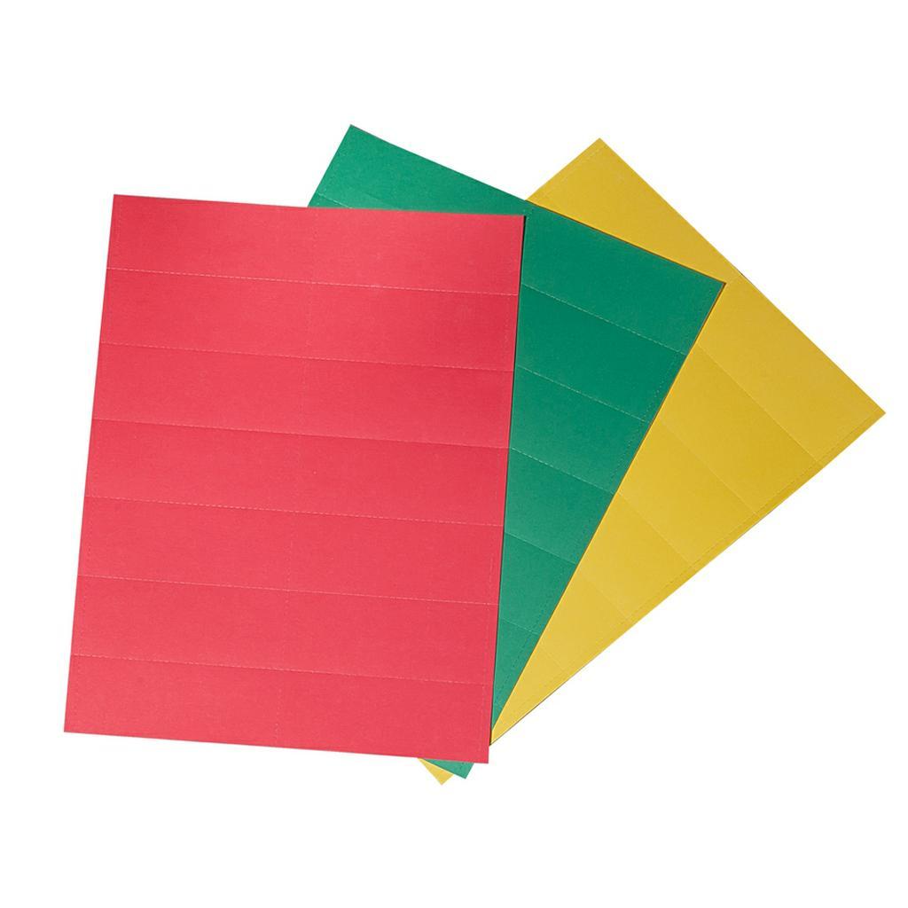 Beschriftungsschilder-Set - für Einstecktafel - Flexo-Board
