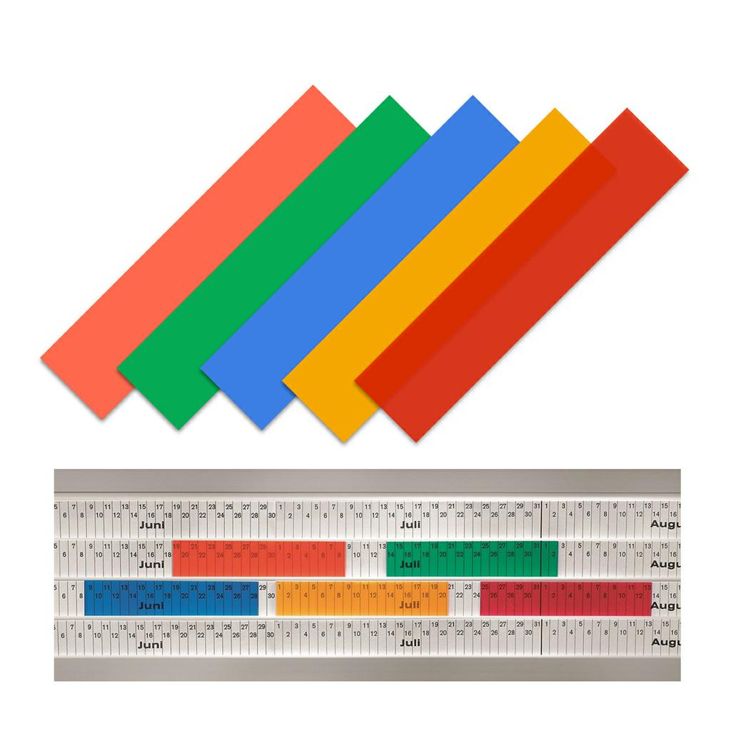 Einsteckschilder - transparent - für Einstecktafeln - System Visiplan