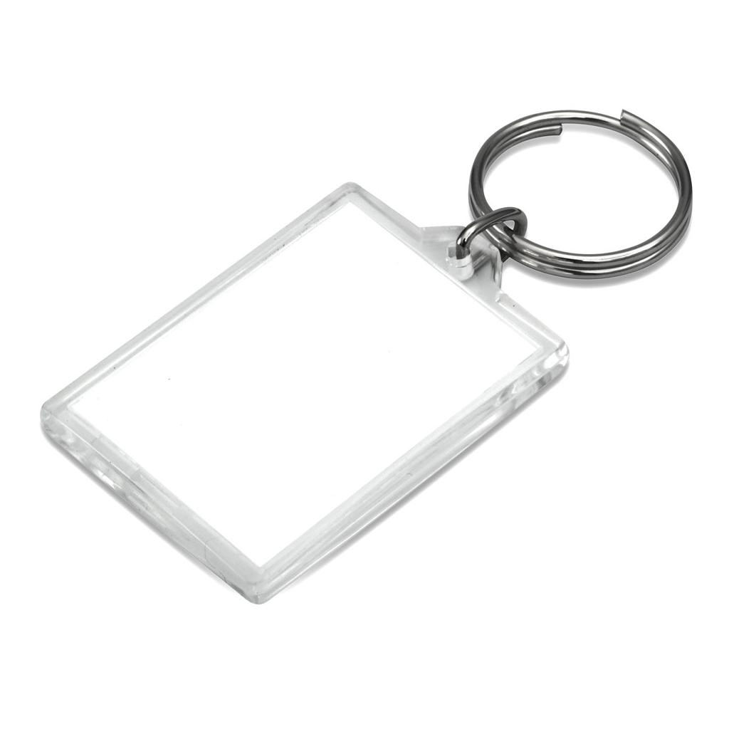 """Acryl-Schlüsselanhänger """"Portrait"""" mit Ring"""