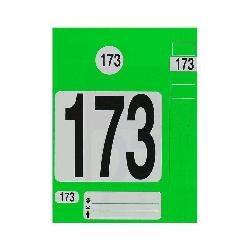 """Kennzeichnungs-System - 4 in 1 - """"Leitzahl"""""""
