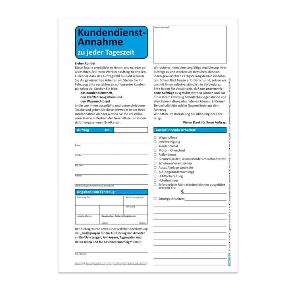Kundendienst-Tasche - DIN C5 - mit Umschlag für Nachteinwurf