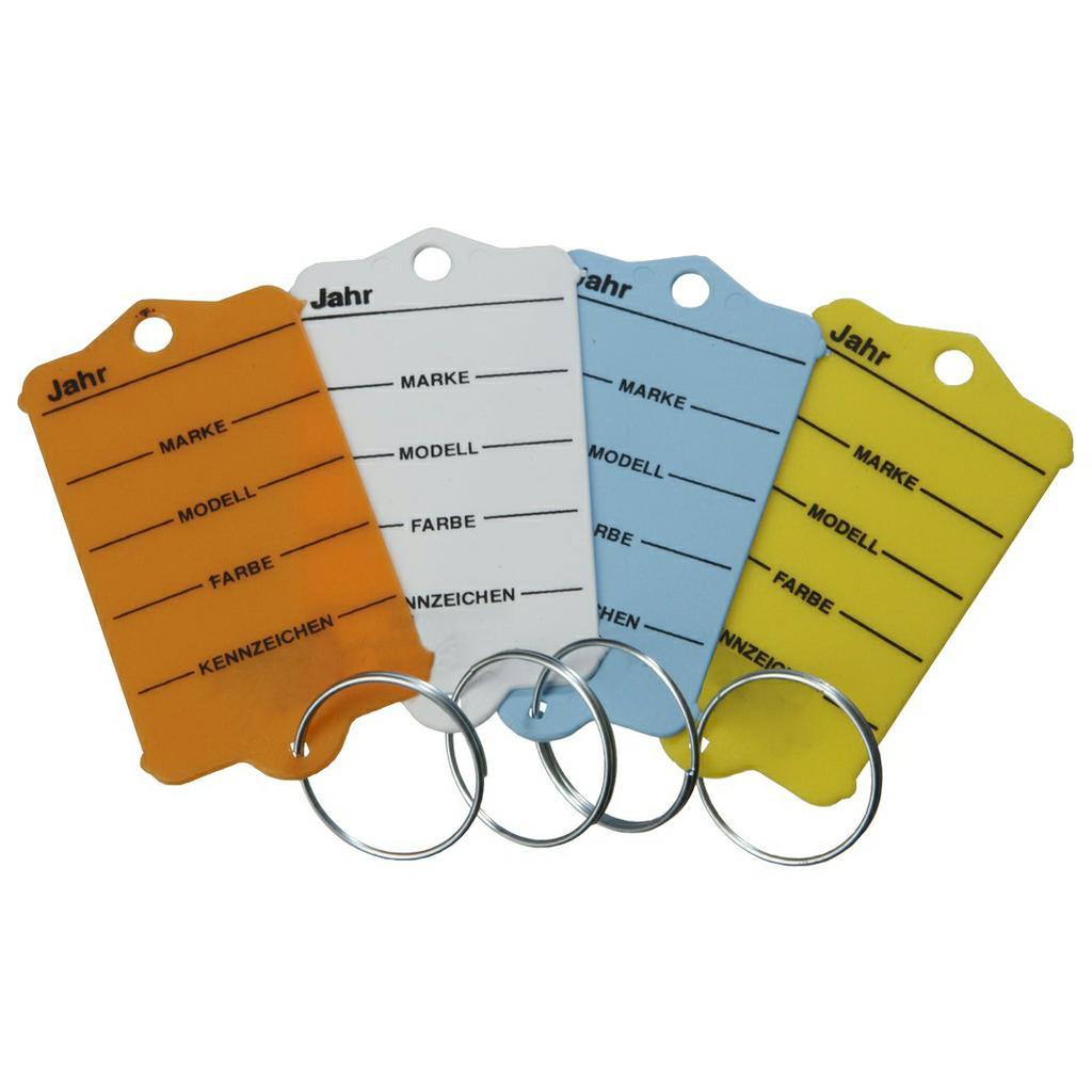 Schlüsselanhänger-Set mit Ring (200 Stück + 2 Spezialstifte)