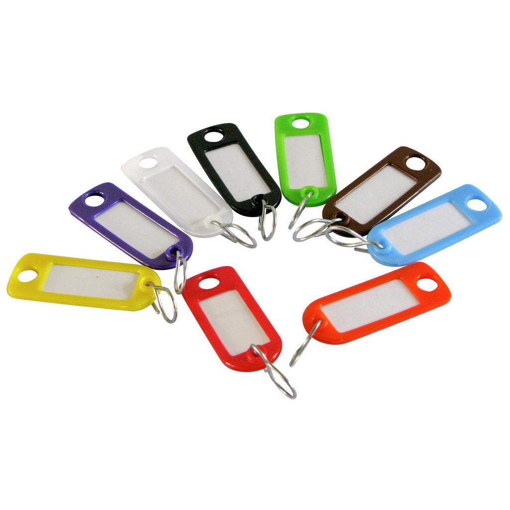 Schlüsselanhänger-Set mit Chromhaken Unifarben