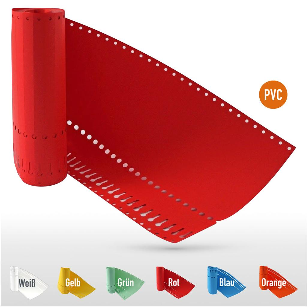 PVC-Schlaufenetiketten auf Rolle - Format 220 x 13 mm (VE 1000)