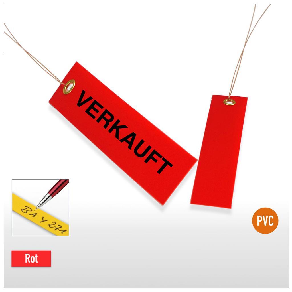 """Hängeetiketten """"Verkauft"""" mit Draht - 100 × 30 mm"""