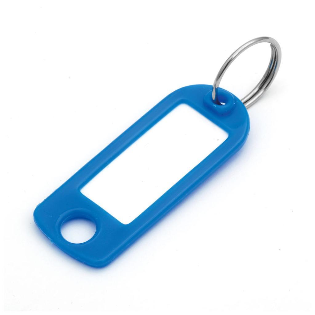 Schlüsselanhänger mit Ring, Unifarben (VE=100 Stck)