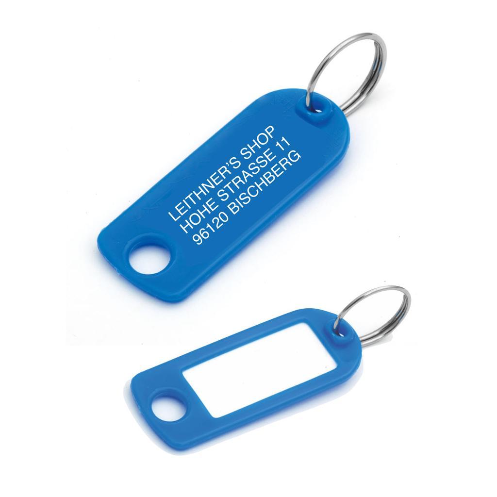 Schlüsselanhänger mit Ring, mit Werbeaufdruck