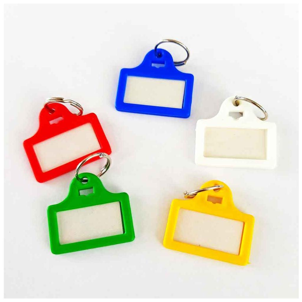 Schlüsselanhänger mit Ring - Farben gemischt - für Schlüsselkästen (VE=100 Stück)