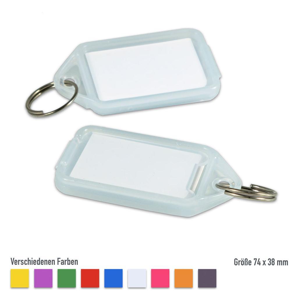 """Schlüsselanhänger-Set  """"Klapp-Fix"""" - große Ausführung - VE = 25 Stck - Blau"""