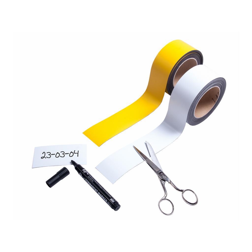 Magnet-Lagerschilder auf der Rolle