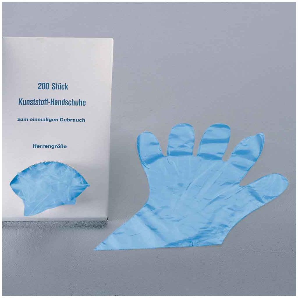 Einmal-Handschuhe aus Polyethylen hellblau-transparent