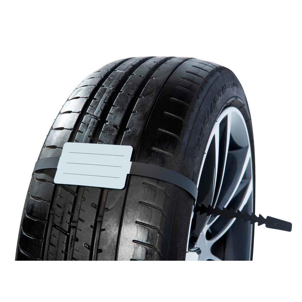 Rad-/Reifenanhänger - mit Fixierband - beliebig wiederverwendbar