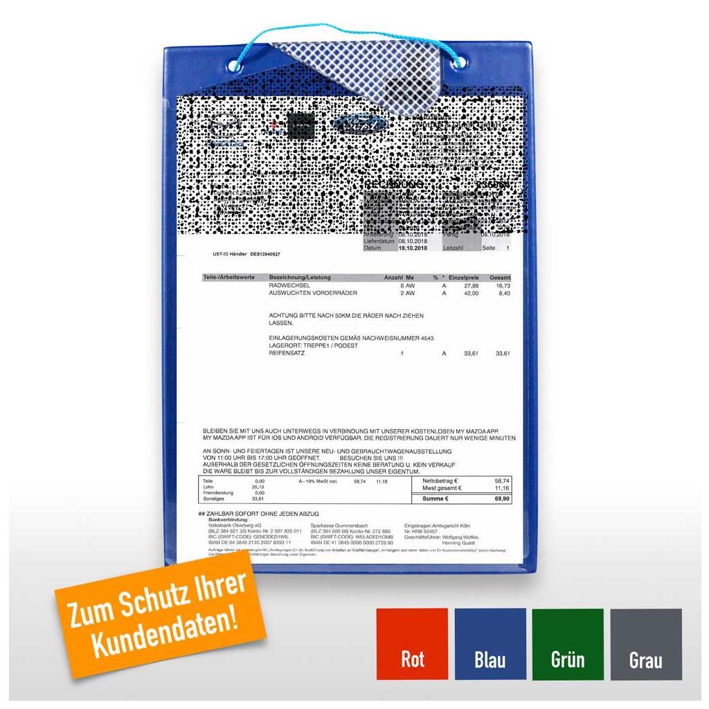 """Auftragstasche """"Secure"""" für DIN A4, Unterlagen-Fach rückseitig"""