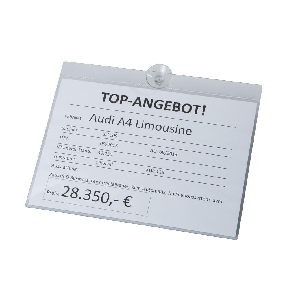 Info-Preisblatthalter für DIN A4 Querformat