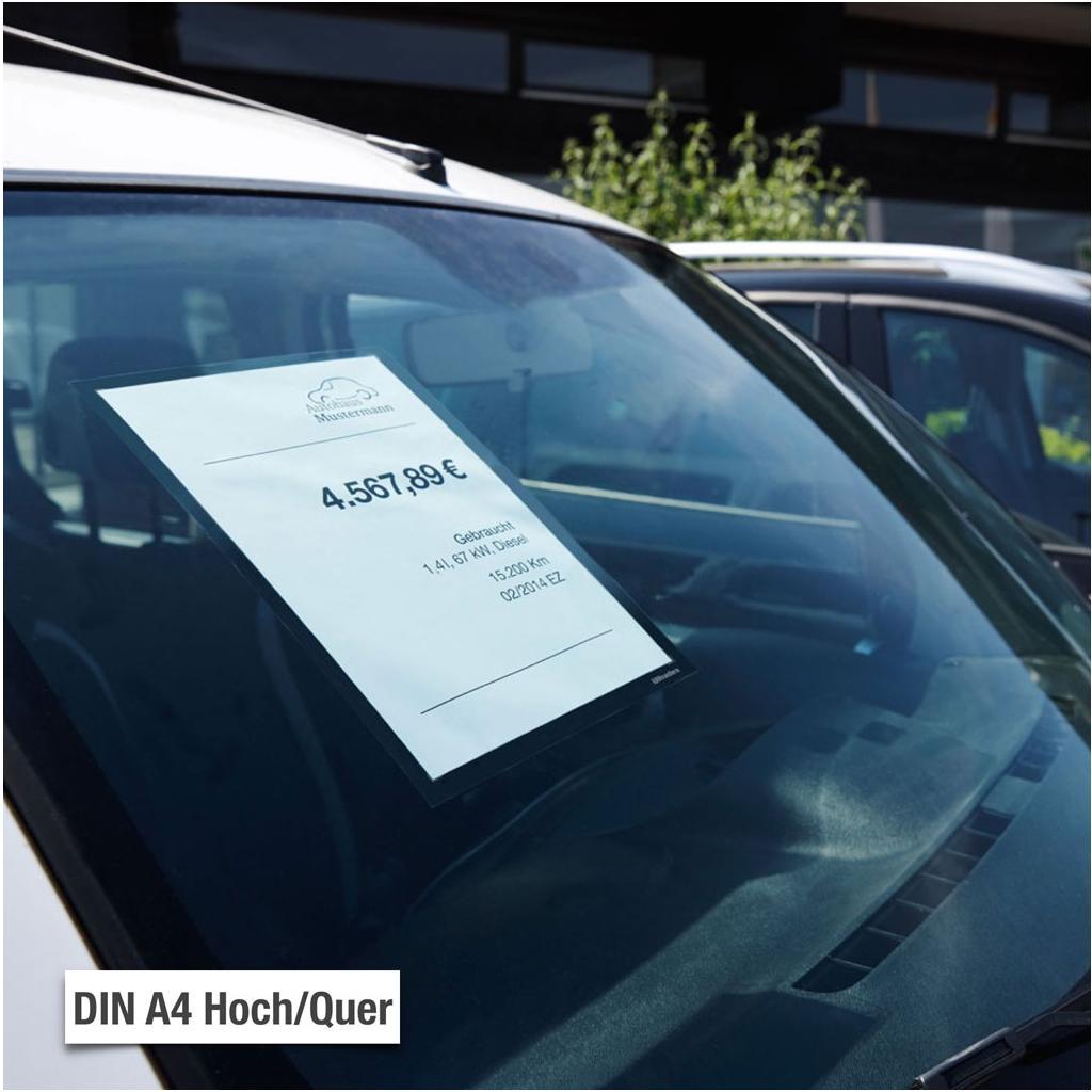 Infotaschen - Glassichtfolie - DIN A4 - Hoch- und Querformat