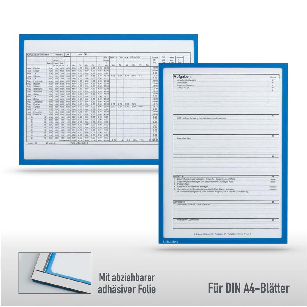 Infotaschen DIN A4 - 2-fach Nutzen - Magnet und Adhäsiv