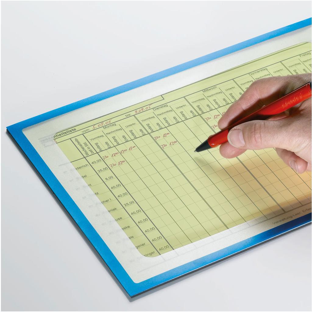 Info-Taschen - magnetisch - Ausschnitt zum Schreiben
