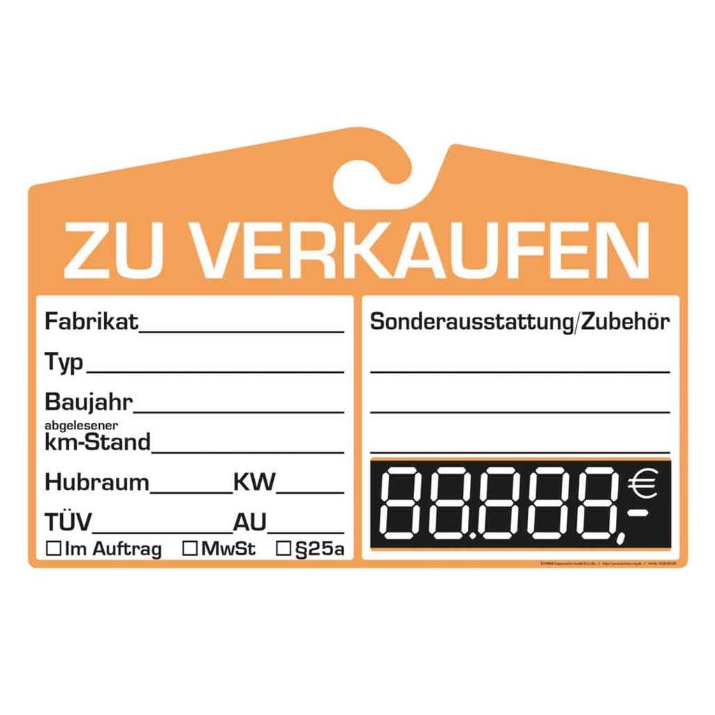Verkaufsschild - Preisfeld Digital - 3 Farben