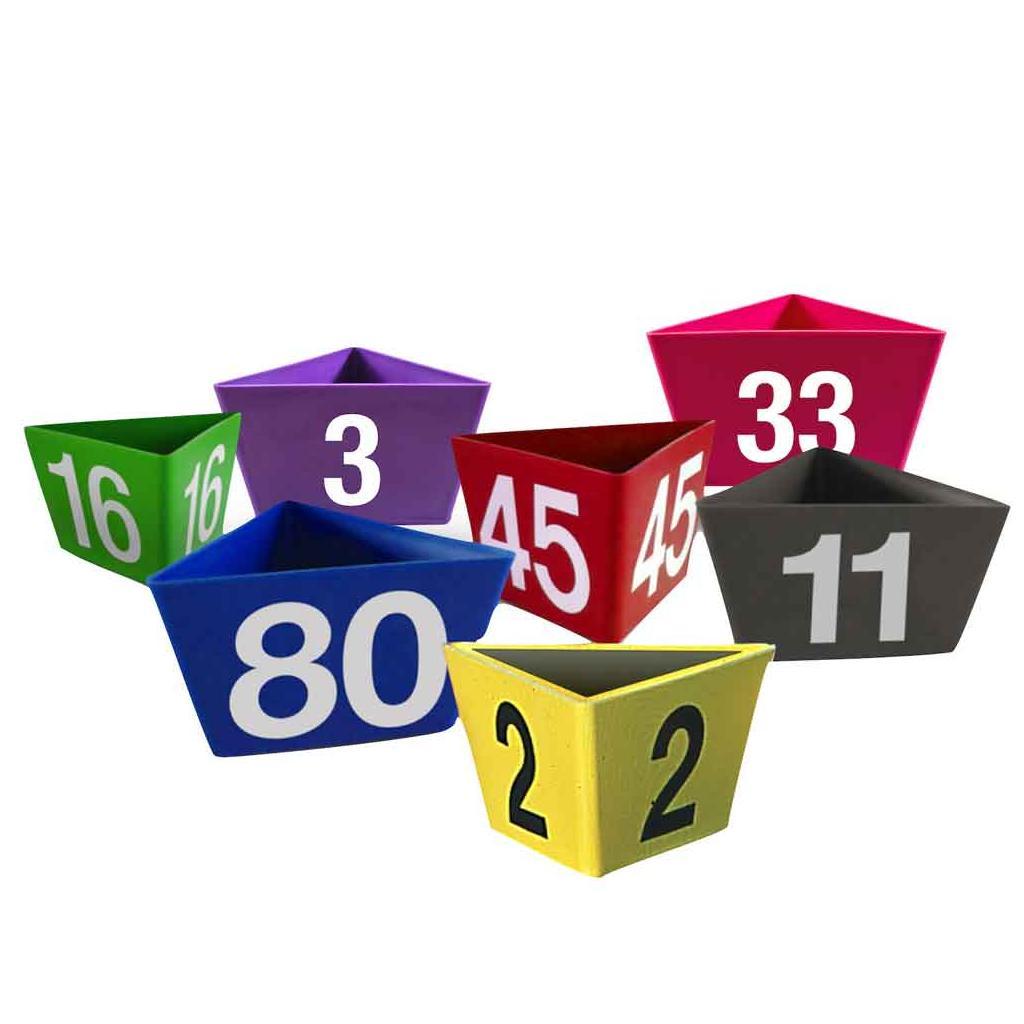 """Leitzahlenträger """"Numero"""" - mit Magnethaftung - 12 Farben"""