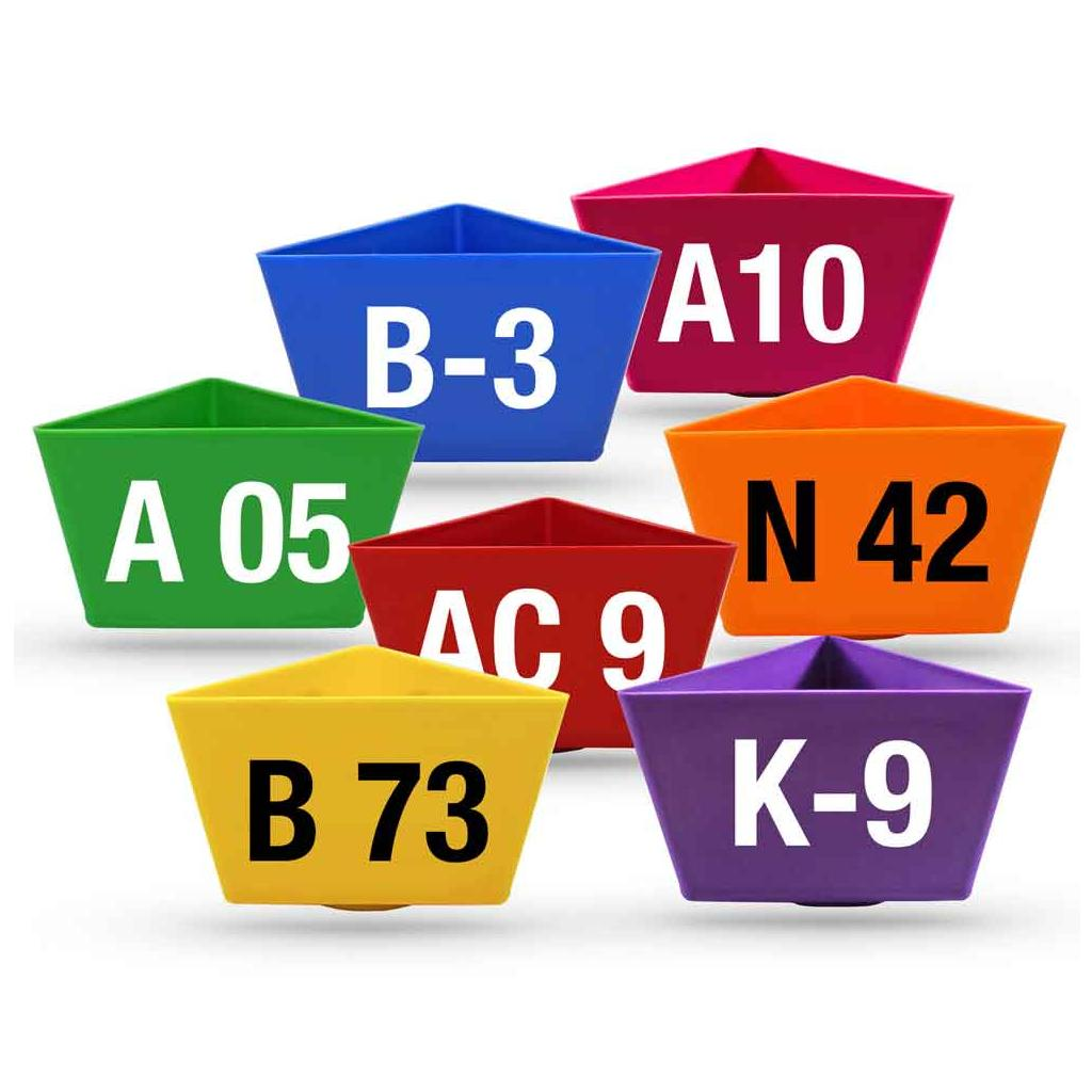 """Leitzahlenträger """"Alpha-Numero"""" - mit Magnethaftung - 12 Farben"""