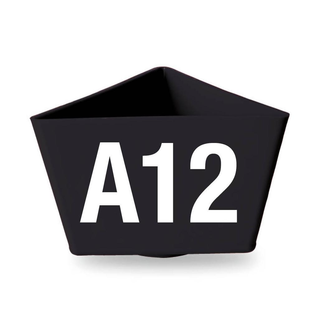 """Leitzahlenträger """"Alpha-Numero"""" - mit Magnethaftung - 11 Farben"""