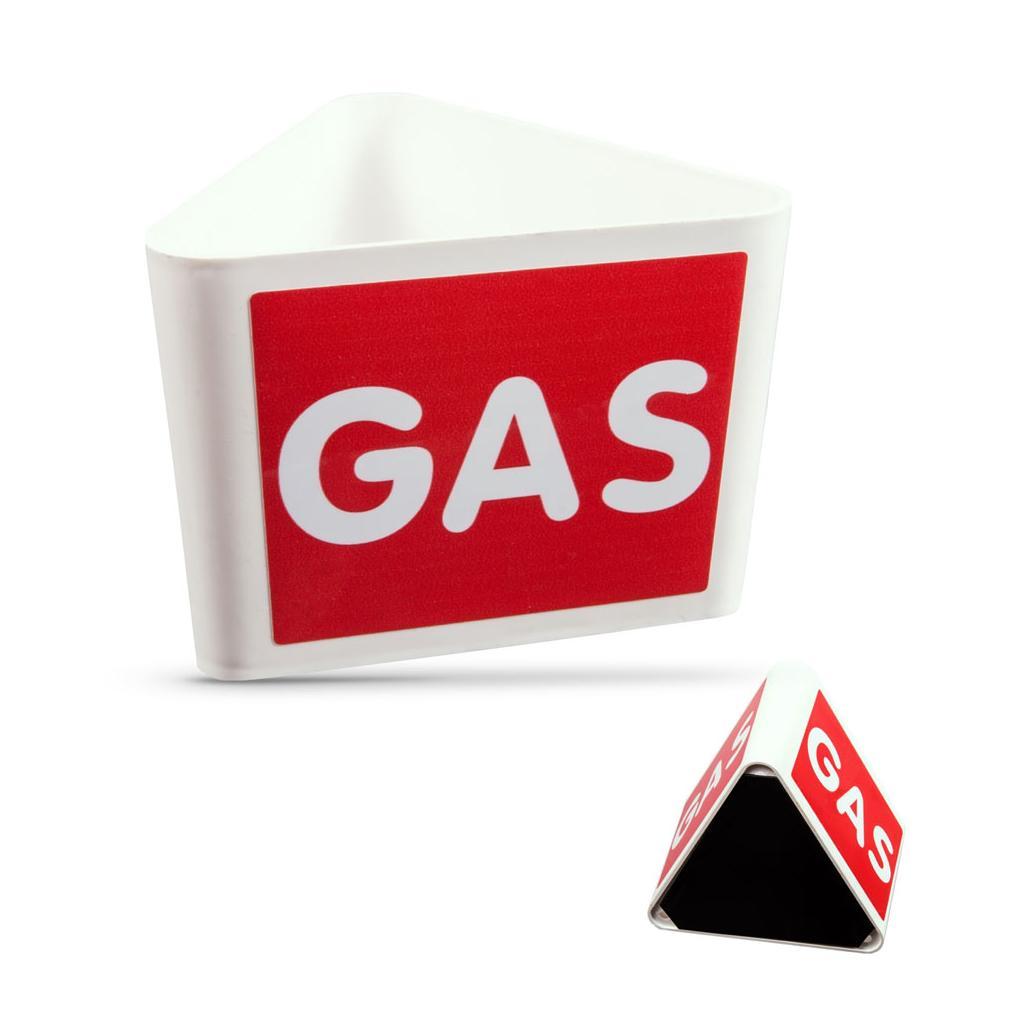 """Dachaufsteller - Textaufdruck """"GAS"""" - mit Magnetfuss"""