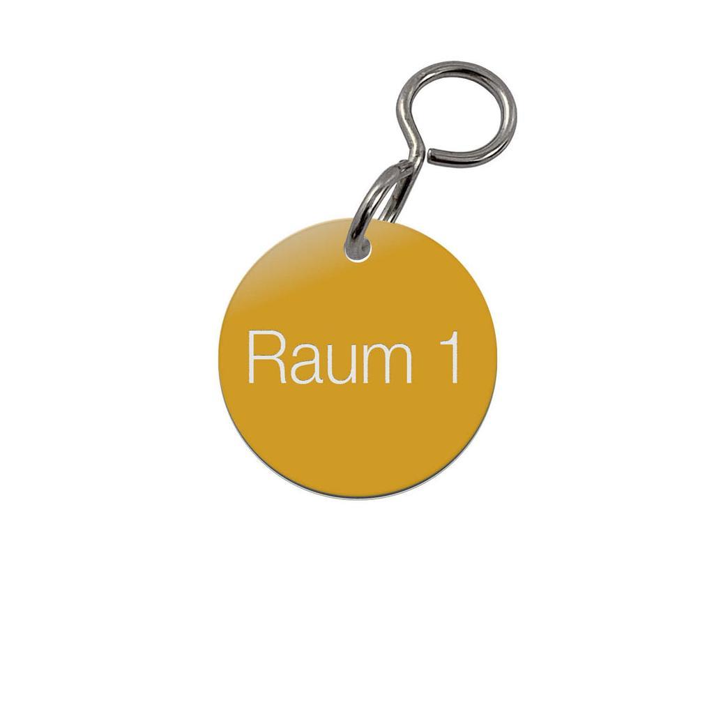 Textmarken - Aluminium eloxiert - 1-zeilige Gravur - mit S-Haken