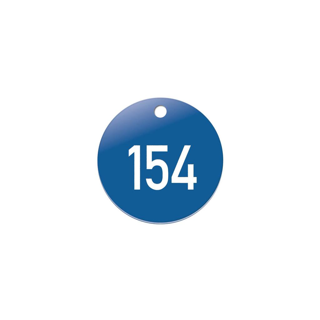 Zahlenmarken - Kunststoff - 1-3 stellig nummeriert - mit Bohrung