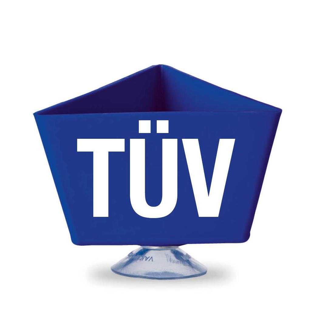 """Kennzeichnungsträger - """"TÜV"""" - mit Saugnapf - 3 Farben"""