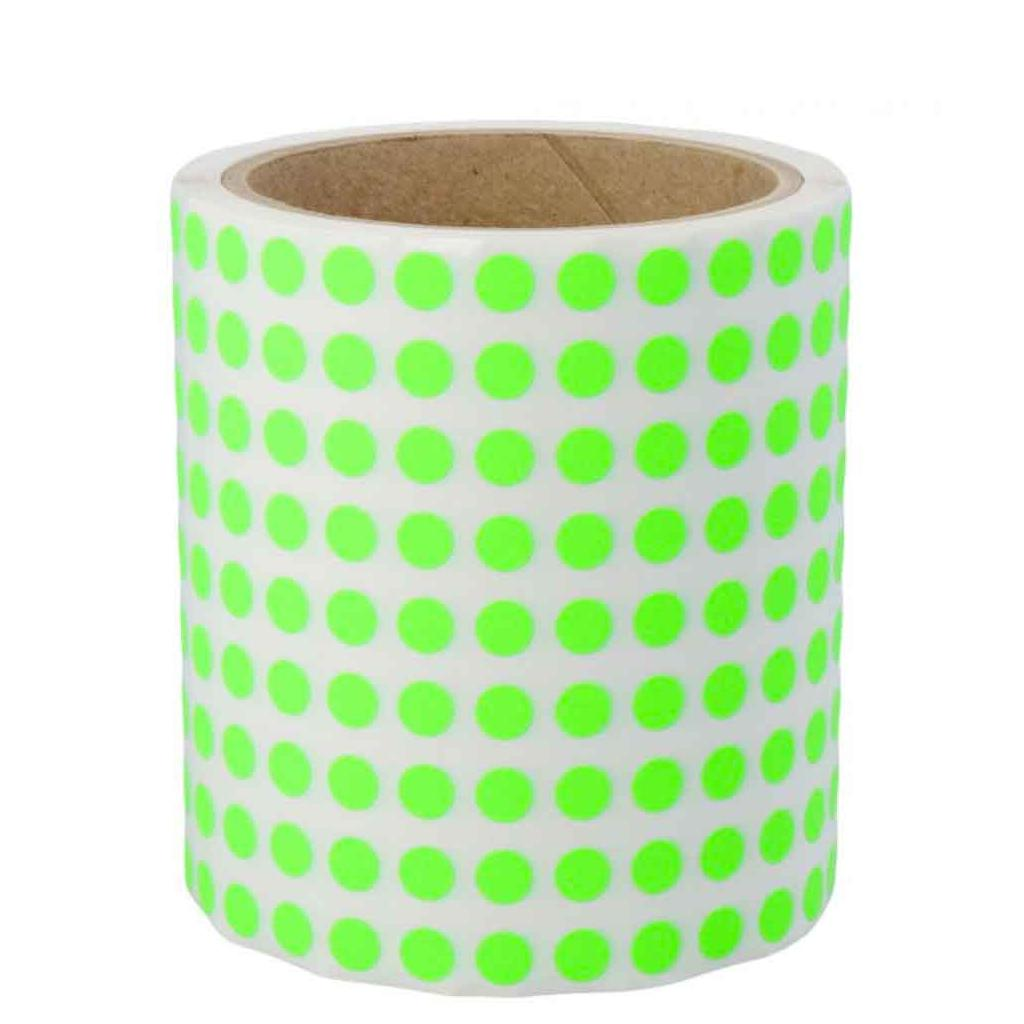 Markierungspunkte aus Papier - Ø 8 mm - permanent haftend - in 6 Farben