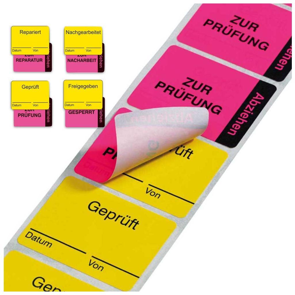 Zweiteilige QS-Kennzeichnung - verschiedene Versionen