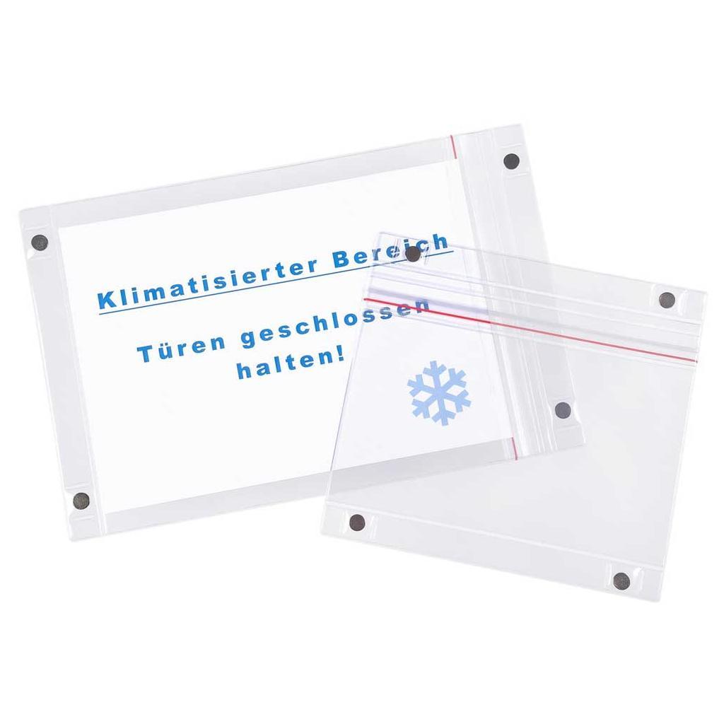 Transparente Magnettasche mit Zip-Verschluss