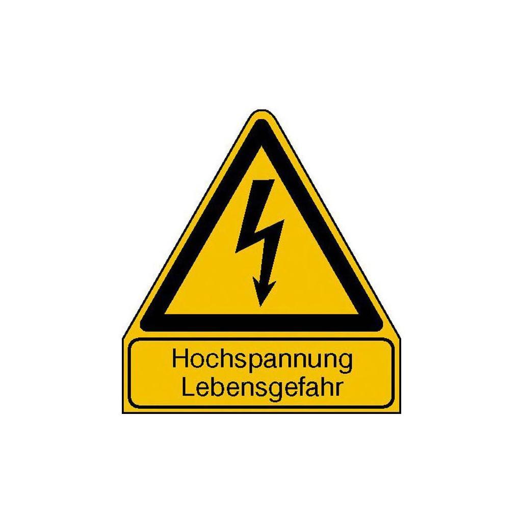 Warn-Kombischild - Hochspannung Lebensgefahr
