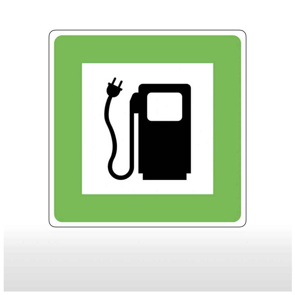 Hinweisschild für Tankanlagen und Garagen E-Tankstelle für Elektroauto