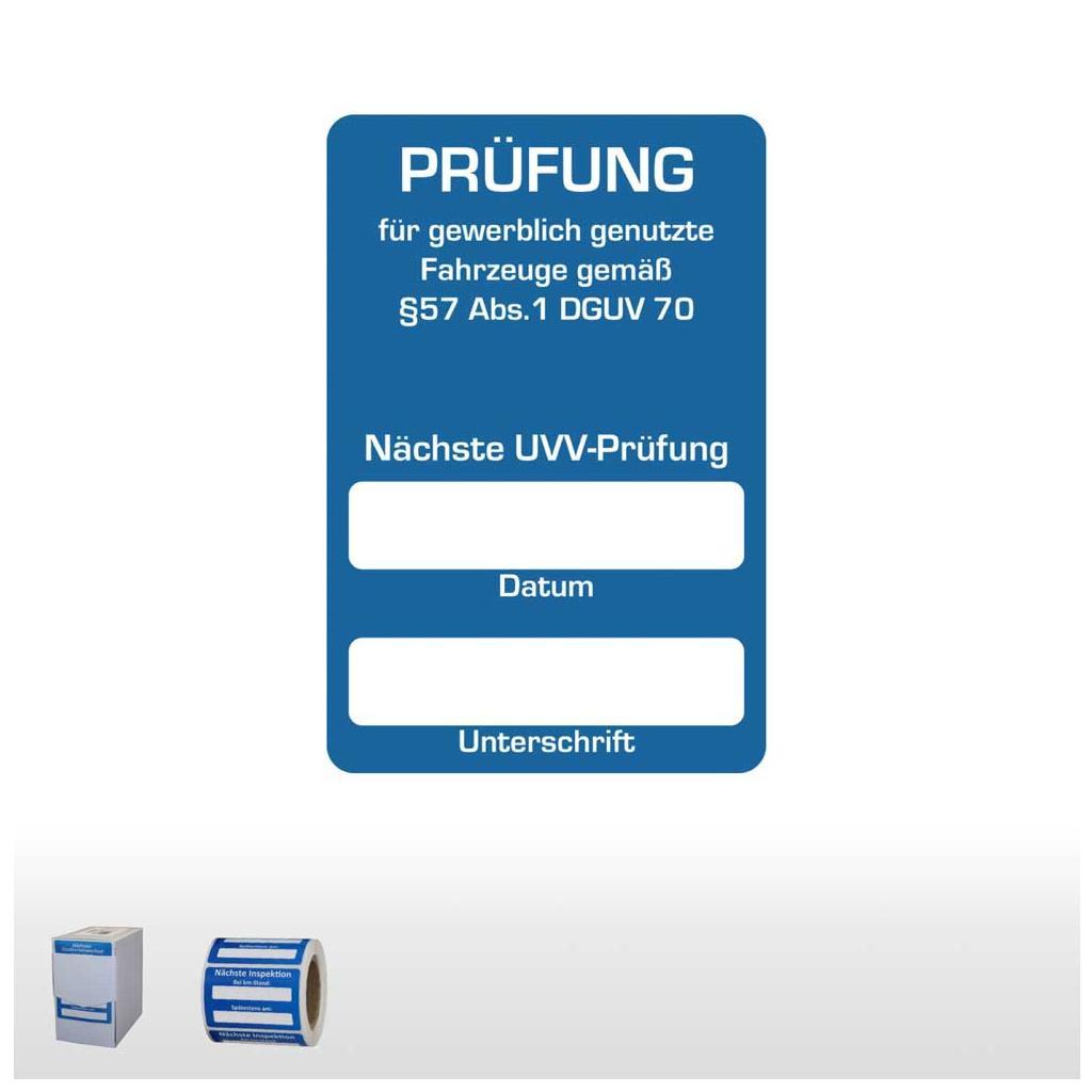 """Kundendienst-Aufkleber """"Nächste UVV-Prüfung"""