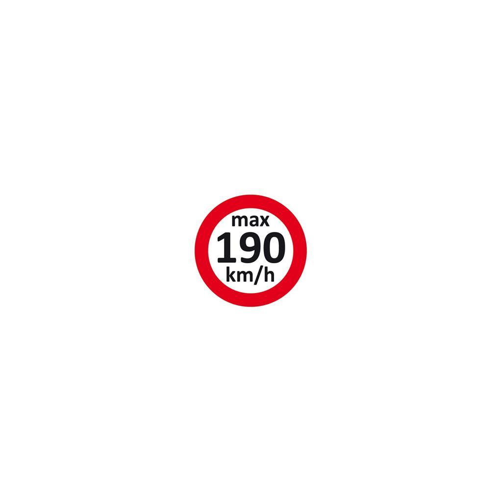 Geschwindigkeitsaufkleber 190 km/h