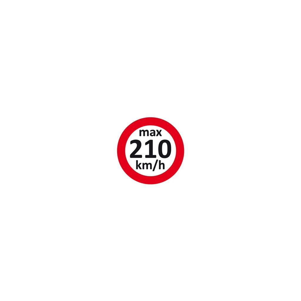 Geschwindigkeitsaufkleber 210 km/h
